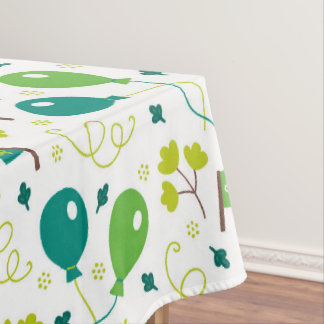 Cute Saint Patrick's Day Balloons and Flags Tablecloth