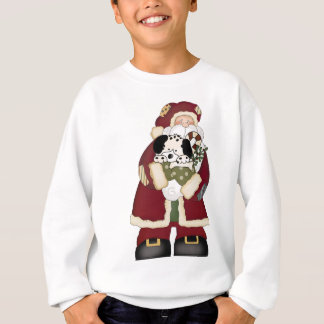 Cute Santa and Puppy Sweatshirt
