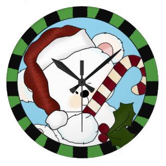 Cute Santa Bear Wall Clock