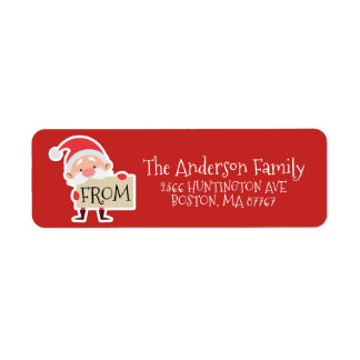 Cute Santa Christmas From Address Label