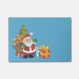 Cute Santa Christmas Light Teal Post-it Notes