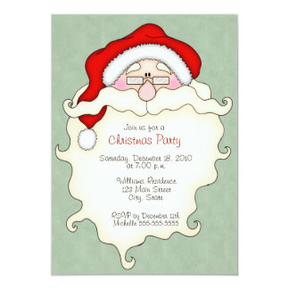 Cute Santa Christmas Party Invitations