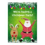 Cute Santa Christmas Party Invites