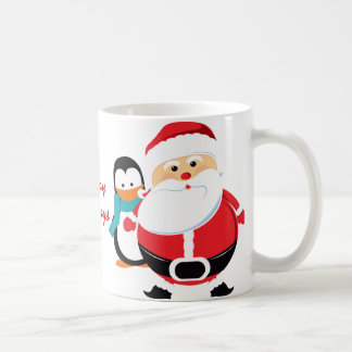 Cute Santa Claus And Penguin Coffee Mug