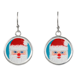 Cute Santa Claus Earrings