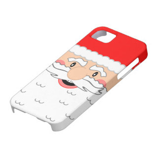 Cute Santa Claus Face - Holiday Design iPhone 5 Cases