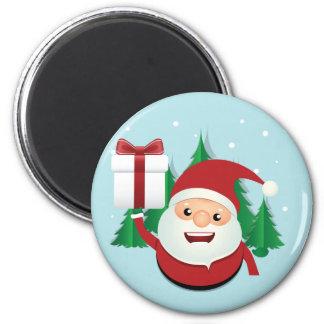 Cute Santa Claus Gift Circle 6 Cm Round Magnet