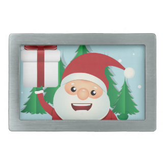 Cute Santa Claus Gift Circle Belt Buckle