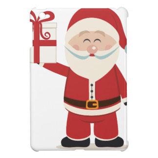 Cute Santa Claus Holding Christmas Present iPad Mini Covers