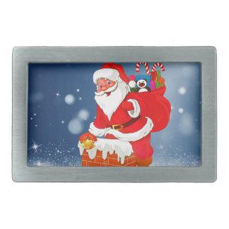 Cute Santa Claus with Gift Bag Christmas Snow Star Belt Buckles