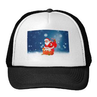 Cute Santa Claus with Gift Bag Christmas Snow Star Cap