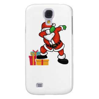 Cute Santa dabbing on gift Christmas T Shirt Galaxy S4 Cases