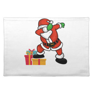 Cute Santa dabbing on gift Christmas T Shirt Placemat