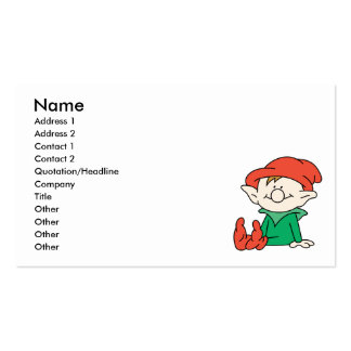 Cute Santa Elf Helper Business Cards
