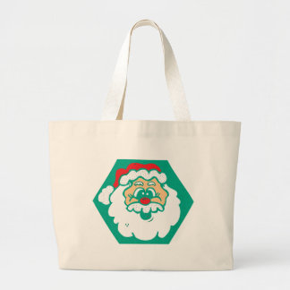 cute santa face bag