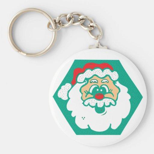 cute santa face key chains