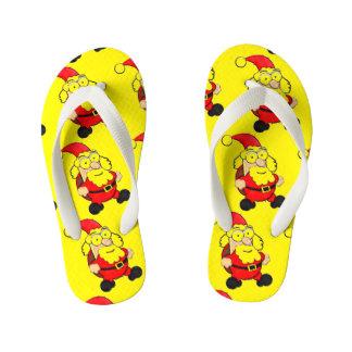 Cute Santa Flip Flops, Kids Thongs