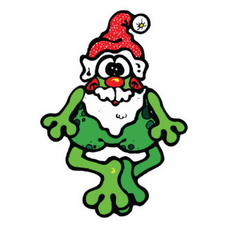 cute santa frog acrylic cut outs