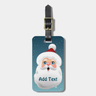 Cute Santa Luggage Tag
