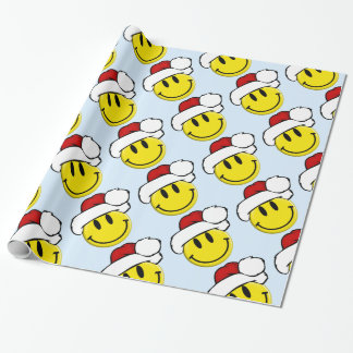Cute Santa Smiley Wrapping Paper