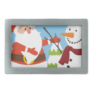 Cute Santa Snowman Christmas Xmas Gift Belt Buckle