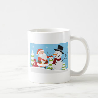Cute Santa Snowman Christmas Xmas Gift Coffee Mug