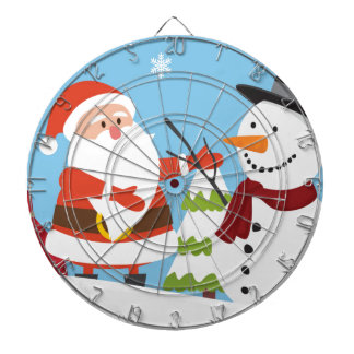 Cute Santa Snowman Christmas Xmas Gift Dartboard