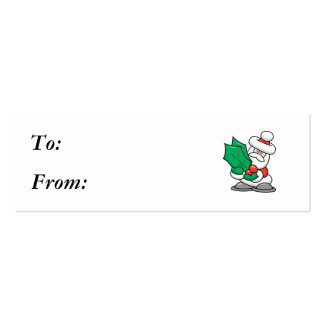 Cute Santa with Holly Leaves Pack Of Skinny Business Cards