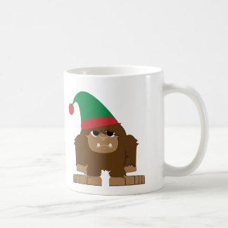 Cute Sasquatch Christmas Elf Mugs
