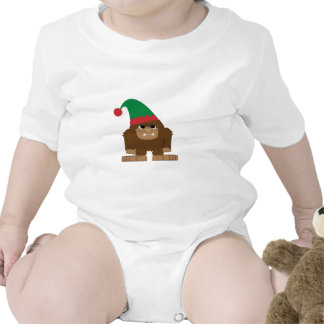 Cute Sasquatch Christmas Elf Romper