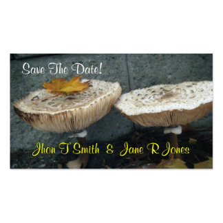 Cute Save The Date! Wedding Note Card Double-Sided Standard Business Cards (Pack Of 100)