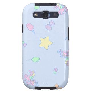 Cute Sax Blue Carousel Galaxy S3 Case