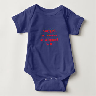 Cute saying Baby Jersey Bodysuit multiple colors