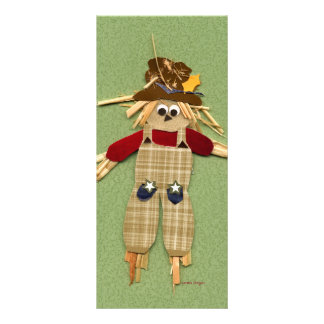 Cute Scarecrow Bookmark Rack Card