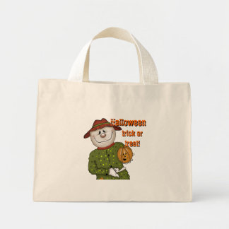 Cute Scarecrow Halloween Trick or Treat Canvas Bag