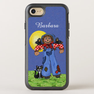 Cute Scarecrow Patches on Overalls Crows Cat Moon OtterBox Symmetry iPhone 8/7 Case