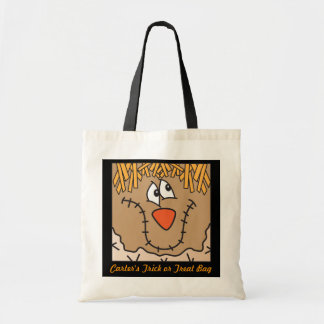 Cute Scarecrow Trick or Treat Bag