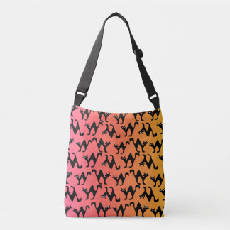 Cute scared cats trick-or-treating bag tote bag