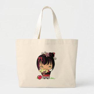 Cute Scary Miao - gothic kokeshi doll Jumbo Tote Bag