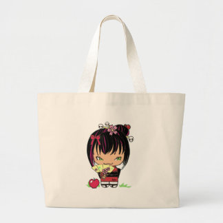 Cute Scary Miao - gothic kokeshi doll Tote Bags