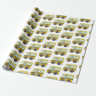Cute School Bus Design Wrapping Paper