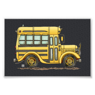 Cute School Bus Photo Art