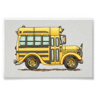 Cute School Bus Photograph