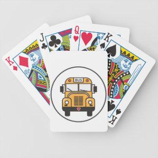 Cute School Bus Poker Deck