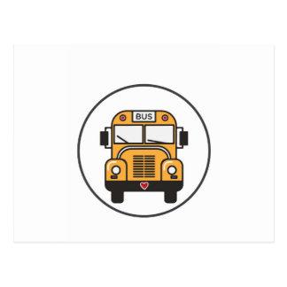 Cute School Bus Postcard