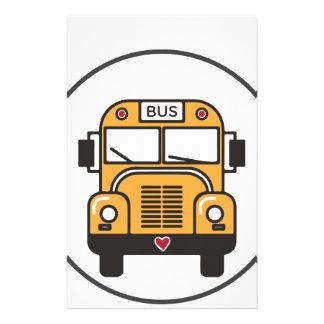 Cute School Bus Stationery