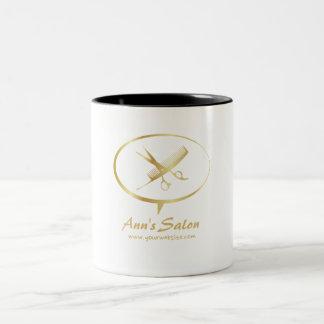 Cute Scissors / Comb Logo Makeup Beauty Hair Salon Two-Tone Coffee Mug