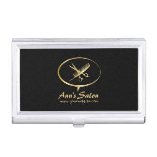 Cute Scissors & Comb Makeup Beauty Hair Salon Business Card Holder