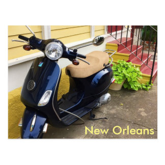 Cute Scooter in New Orleans Marigny Postcard