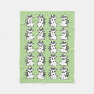 Cute Scotties Your Background Colour Fleece Blanket
